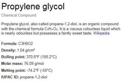 Propylene Glycol Toxicity