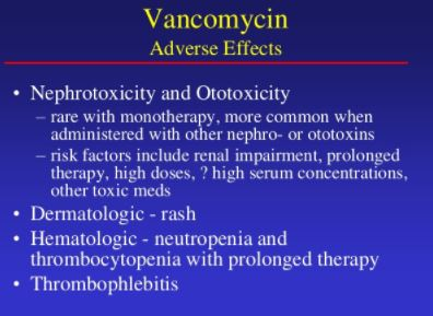 Vancomycin Toxicity
